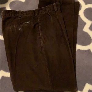 Eddie Bauer Relaxed Fit Pleated Corduroy Pant